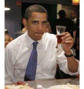 ObamaDrinking